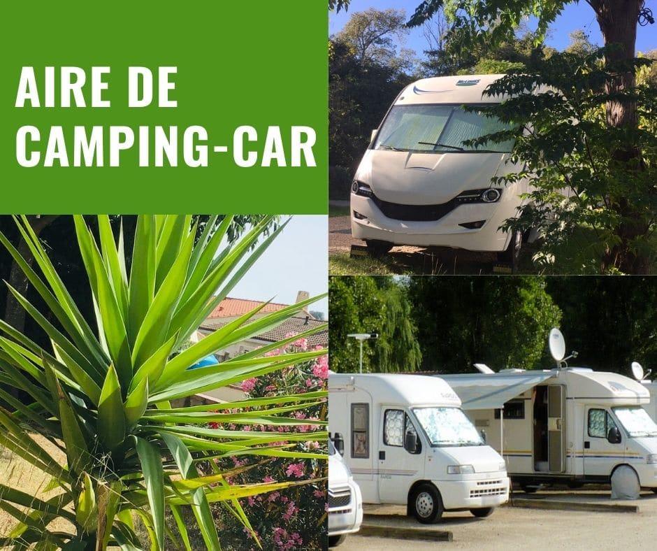 Aire de camping car du camping Maureillas